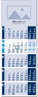 Календар Лайт СИН / СИН