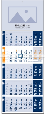 Календар Лайт СИН / ОРАНЖ