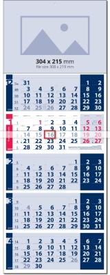 Календар Лайт СИН / ЧЕРВЕН