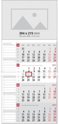 Календар План Червен - 1 тяло