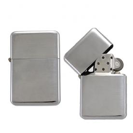 Бензинова запалка RETRO метална сребро