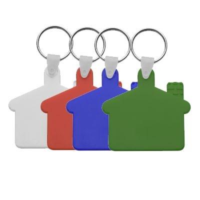 Пластмасов клюдодържател-къщичка с метален пръстен, еластичен, АР80933