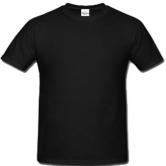 едноцветна мъжка тениска Keya - ЧЕРНА