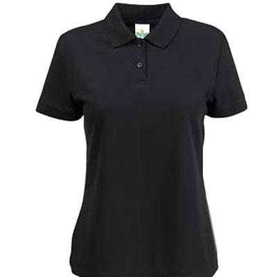 Тениска поло - ЧЕРНА