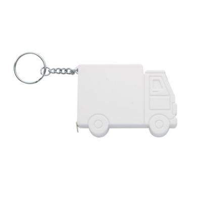 Ролетка ключодържател 1м, камион бял