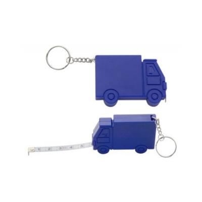 Ролетка ключодържател 1м, камион син