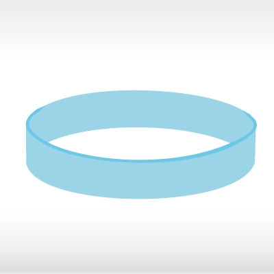 Светло сини силиконови гривни