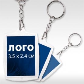 квадратен пластмасов ключодържател