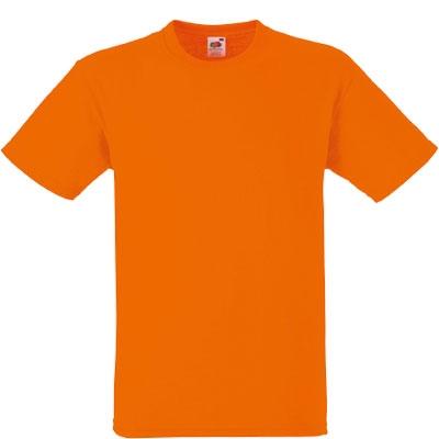 Мъжка обикновена тениска  - ОРАНЖ