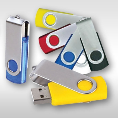 Рекламни USB флаш памети - Usb flash памети за реклама тип swivel