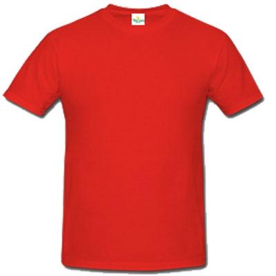 Мъжка обикновена тениска - ЧЕРВЕНА