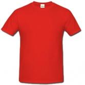 едноцветна мъжка тениска Keya - ЧЕРВЕНА