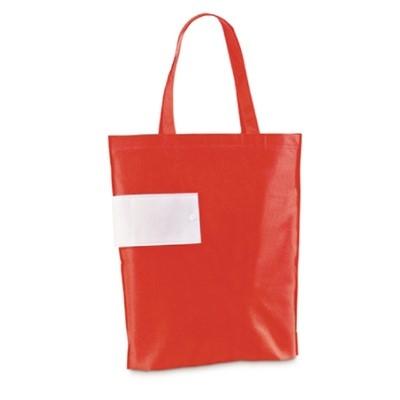 Червена сгъваема торбичка