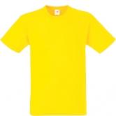 едноцветна мъжка тениска Keya - ЖЪЛТА